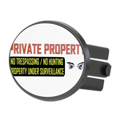 3 x 10 No Trespassing Decal Oval Hitch Cover