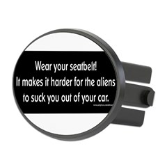 Wear Your Seatbelt Aliens Oval Hitch Cover