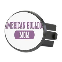 American Bulldog Mom Oval Hitch Cover
