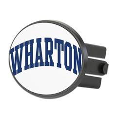 WHARTON design (blue) Oval Hitch Cover