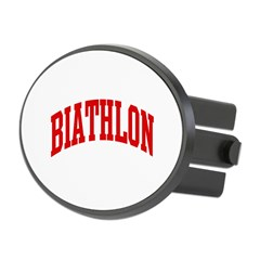 Biathlon (red curve) Oval Hitch Cover