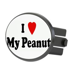 I Love My Peanut Oval Hitch Cover