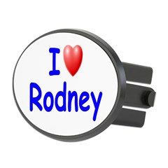 I Love Rodney (Blue) Oval Hitch Cover