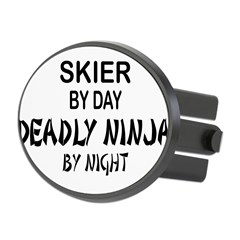 Skier Deadly Ninja Oval Hitch Cover
