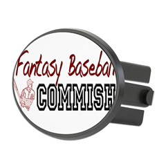 Fantasy Baseball Commish Oval Hitch Cover