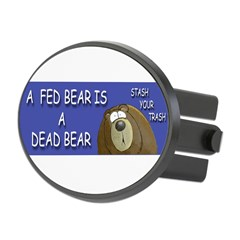 BEAR Oval Hitch Cover