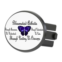 Butterfly Awareness 1 (Rheumatoid Arthritis) Oval Hitch Cover