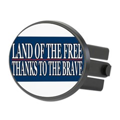 Patriotic - American Veteran Oval Hitch Cover