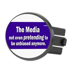 the media not even pretending to be unbiased anymo Oval Hitch Cover