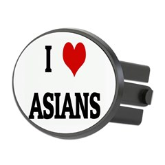 I Love ASIANS Oval Hitch Cover