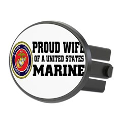 Marine Proud Wife Oval Hitch Cover