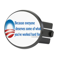 Anti-Obama Because Oval Hitch Cover