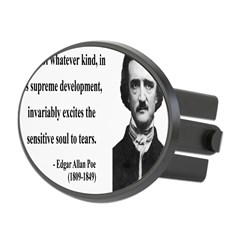 Edgar Allan Poe 11 Oval Hitch Cover