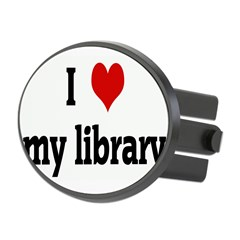 I Love my library Oval Hitch Cover