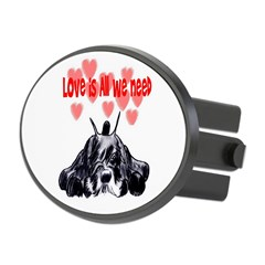 schnauzer love Oval Hitch Cover