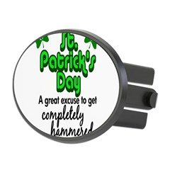 St. Patrick's Day Oval Hitch Cover