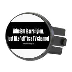 Atheism TV Oval Hitch Cover