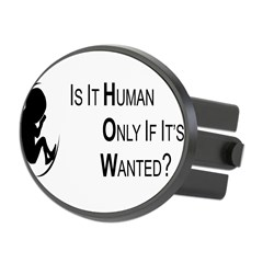 Is it Human - Bumper Sticker (single sticker) Oval Hitch Cover