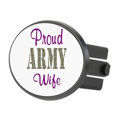 Army Purple Home/Office Oval Hitch Cover