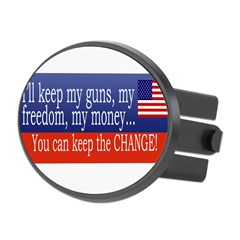 Keep the Change Oval Hitch Cover