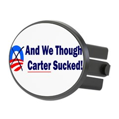 Anti-Obama Oval Hitch Cover