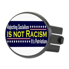 Rejecting Socialism Oval Hitch Cover