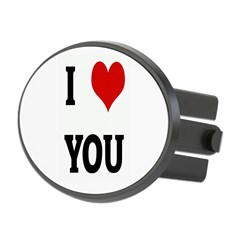 I Love YOU Oval Hitch Cover