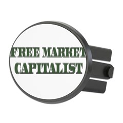 Free Market Capitalist Oval Hitch Cover