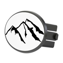 Mountains Oval Hitch Cover