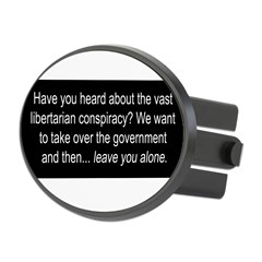 Libertarian Conspiracy Oval Hitch Cover