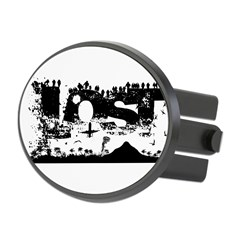 Lost Island White Oval Hitch Cover