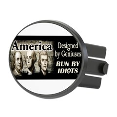 Designed by Geniuses Oval Hitch Cover