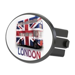 London Bus with Union Jack an Oval Hitch Cover
