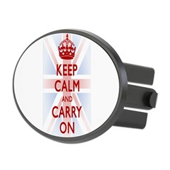 Keep Calm and Carry On Oval Hitch Cover