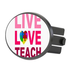 Live Love Teach Autism Oval Hitch Cover