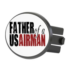 Father of a US Airman - Oval Hitch Cover