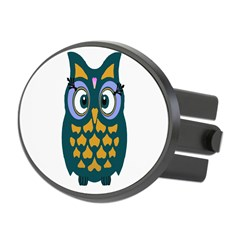 Retro Owl Oval Hitch Cover