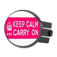 CZARINA PINK Oval Hitch Cover