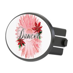 Dancer Pink Snow Flower Oval Hitch Cover
