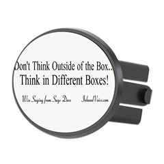 Boxes Oval Hitch Cover
