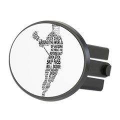 Lacrosse LAX Player Oval Hitch Cover