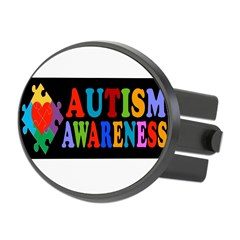 Autism Awareness Oval Hitch Cover