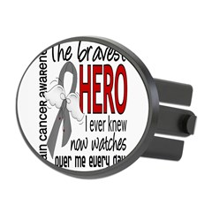 Bravest Hero I Knew Brain Cancer Oval Hitch Cover