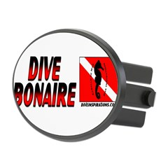 Dive Bonaire (red) Oval Hitch Cover