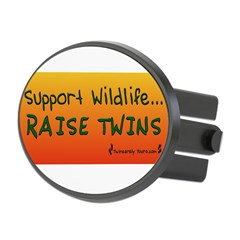 Support Wildlife - Raise Twin Oval Hitch Cover