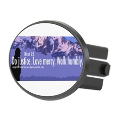 Micah 6:8 Oval Hitch Cover