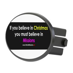 Christmas & Mission Oval Hitch Cover