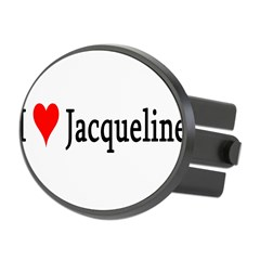I Love Jacqueline Oval Hitch Cover