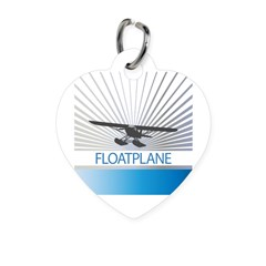 Aircraft Float Plane Heart Pet Tag