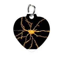 Brain neuron - Heart Pet Tag